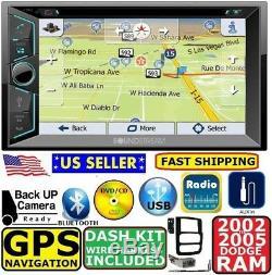 02 03 04 05 Dodge Ram Gps Navigation System DVD CD Usb Aux Car Stereo Radio