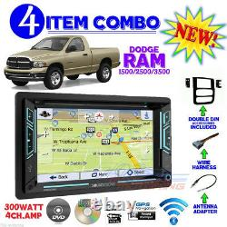02 03 04 05 Dodge Ram Navigation DVD Video Car Stereo Radio Double Din Dash Kit