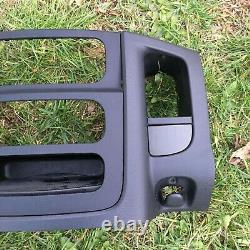 02-05 Dodge RAM Dash RADIO Bezel Climate Trim Panel without Vent Storage BLACK