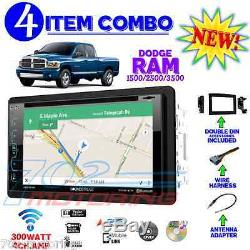 06 07 08 09 10 Dodge Ram Gps Navigation Stereo Radio DVD CD Double Din Dash Kit