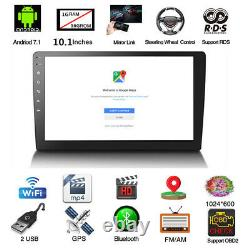 10.1 2DIN Android 7.1 Car GPS Stereo Radio Player Quad-Core BT Wifi Mirror Link