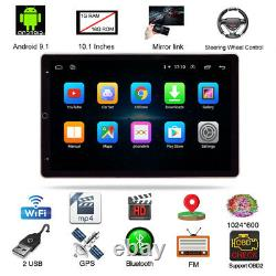 10.1 2DIN Rotatable Android 9.1 Screen Quad Car Stereo Radio GPS Wifi Player