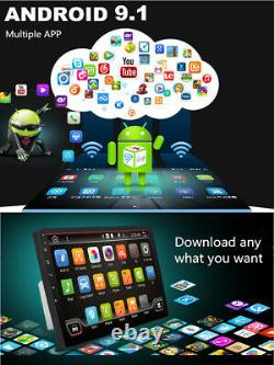10.1 2Din Android 9.1 Car 1080P Quad-core Touch Screen Stereo Radio Wifi GPS
