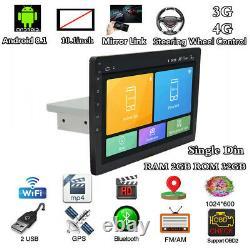 10.1 Android 8.1 Quad-Core 1Din Car Radio GPS Stereo Audio Wifi LTE OBD 2+32G