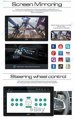 10.1 Android Double 2 DIN Car stereo Radio NO DVD Player GPS Navigation WiFi BT