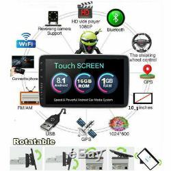 10.1 Single Din Android 8.1 Car Stereo Radio GPS Navi 16GB Rotatable Screen