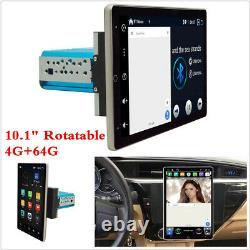 10.1 Single Din Android 9.0 Car Stereo Radio GPS Navigat 4G+64G Rotating Screen