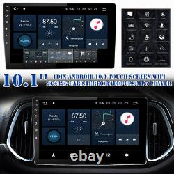 10.1'' Touch Screen Car Stereo Radio GPS MP5 Player 1DIN Android 10.1 WiFi 2+32G