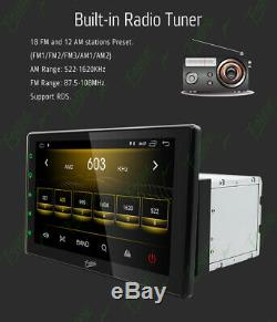 10.12Din Car Android 9.0 Radio Bluetooth GPS Wifi Stereo Video PlayerHD camera