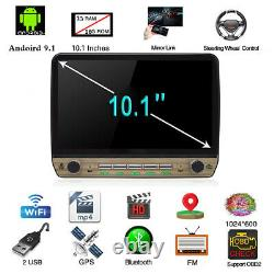 10.1in Android 9.1 Car GPS Navigation Player 1Din WiFi Bluetooth In-dash Radio