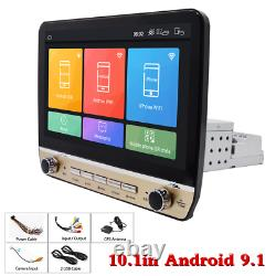 10.1in Android 9.1 Car Stereo GPS Nav MP5 Player WiFi Quad Core Radio 1Din 16GB