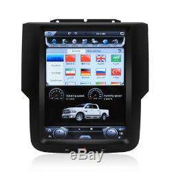 10.4 Tesla Vertical Screen Car GPS Radio for Dodge Ram 1500 2500 3500 2013-2019