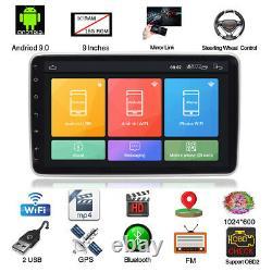 10 Android 9.0 1DIN Rotatable 1+16GB Car Stereo Radio GPS Navi Wifi Mirror Link