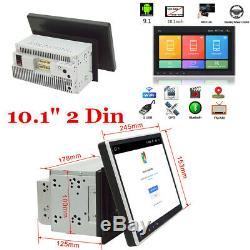 10 Double 2 Din ROM 16G Android 9.1 Car Stereo Radio GPS Nav WiFi 3G 4G OBD BT