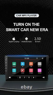 10in Car Radio Apple/Android Carplay Bluetooth Stereo Touch Screen Double DIN