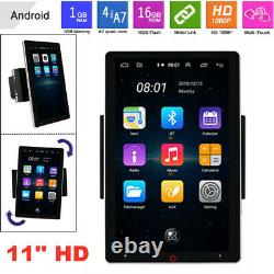 11'' 1080P Rotable Android Bluetooth 1G+16G GPS Wifi Car Radio Video MP5 Player