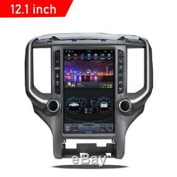 12.1 Android 9.0 Vertical Screen Car GPS Radio 4+32GB For Dodge RAM 2018-2020