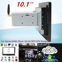 12V 10.1 Android 7.1 Single DIN Car Stereo Radio DVR Player 3G/4G WIFI GPS AVI
