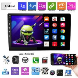 12V Android 9.1 10.1 1 DIN Car Bluetooth Stereo Radio MP5 Player GPS Nav WIFI