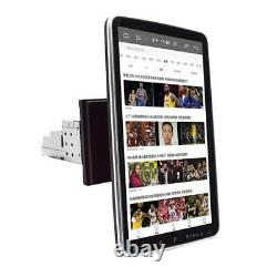 1DIN Rotatable 10.1in Touch Screen Car Stereo Radio GPS Nav MP5 Player 1+16GB
