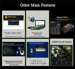 1Din 10.1in HD Touch Screen Car Stereo Radio WiFi GPS Navi Multimedia Player Kit