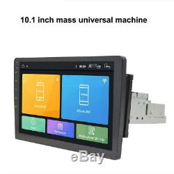 1Din 10.1inch Android 8.1 Quad Core Rotary 360° Car Radio In Dash Stereo GPS OBD