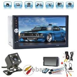 2 DIN 7 HD Car Stereo Radio MP5 Player Bluetooth Touch Screen With Rear Camera