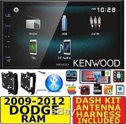 2009-2012 Dodge Ram Truck Kenwood Bluetooth Usb Screen Mirror Radio Stereo Pkg