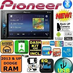 2013 And Up Ram Pioneer Bluetooth Touchscreen Usb Aux Eq Car Stereo Radio Pkg