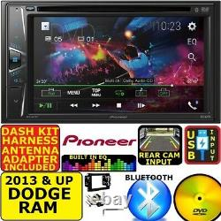 2013 & Up Pioneer Ram DVD CD Touchscreen Bluetooth Double Din Car Stereo Radio
