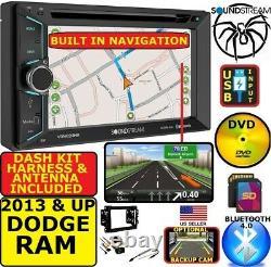 2013 & Up Ram Dvd/cd/usb Gps Navigation System Bluetooth Car Stereo Radio