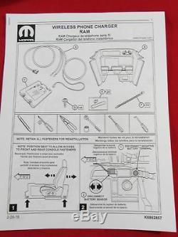 2019 DODGE RAM 1500 Wireless Charging Pad Kit NEW OEM MOPAR