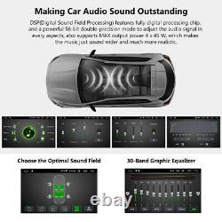2021 10.1 Android 10 Double Din Car Stereo Radio GPS Navi Wifi 4G OBD2 Sat BT E