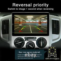 2DIN 10.1''Rotatable Android9.1 Touch Screen Quad Car Stereo Radio GPS Navi 16GB