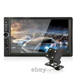 2DIN 7 Touch Car MP5 Player Stereo Radio FM Bluetooth Mirror Link with Camera Kit