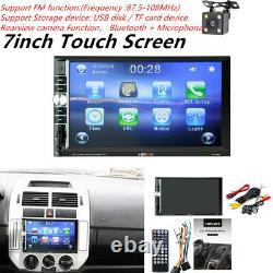 2DIN 7HD Car Stereo Radio MP5 Player System Bluetooth Touch Screen& Rear Camera