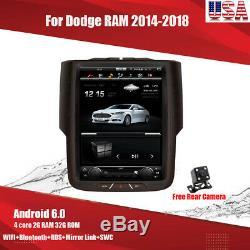32 gb Tesla Vertical Screen Gps Radio Dash For Dodge Ram1500 2500 3500 2013-2019