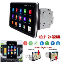 360° Rotate 10.1 Android 9.1 2Din 2+32G Car Stereo Radio GPS Navi Head Unit MP5