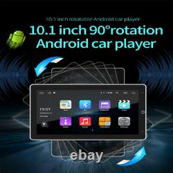 360° Rotation 10.1 Double 2DIN Android 8.1 Car Stereo GPS MP5 Player WiFi Radio