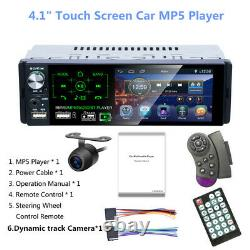 4.1 HD Touch Screen Car Stereo Bluetooth FM Radio MP5 Player+Rear View Camera