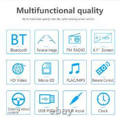 4.1 Inch 1 DIN Car Stereo Radio HD MP5 FM Player Touch Screen +Free Rear Camera