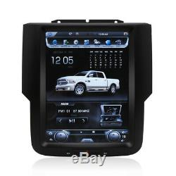 4+32GB Android8.1 Tesla Style Car GPS Radio Carplay For Dodge Ram 1500 2013-2019