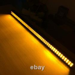 42 Inch Amber/White/Strobe Led Work Light Bar Combo Off road Wireless Remote 40