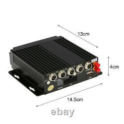 4CH 4G Wireless GPS Realtime Video Recorder Car Mobile DVR+4pc HD Cameras Remote
