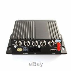 4CH Car DVR AHD SD 3G / 4G Wireless GPS Realtime Video Recorder & 4 HD Cameras