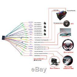 6.2 2 DIN Car FM Radio DVD CD Player Touch Screen Bluetooth Audio Video Input