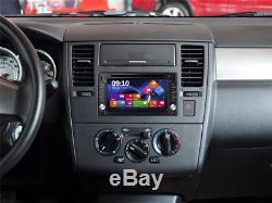 6.2 2Din HD Car Radio Stereo DVD Player GPS Navigator Blueteeth FM AM 8G NA Map