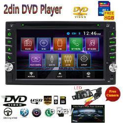 6.2 CD DVD BLUETOOTH HD RADIO CAR GPS Nav Double 2Din DVR Player In Dash+Camera