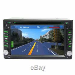 6.2'' GPS Navigation Double 2Din Car Stereo DVD CD Player Bluetooth Auto Radio