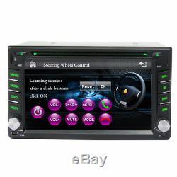 6.2 HD Car 2Din DVD Stereo Dash Player Blueteeth Radio FM GPS Sat Nav NA Maps